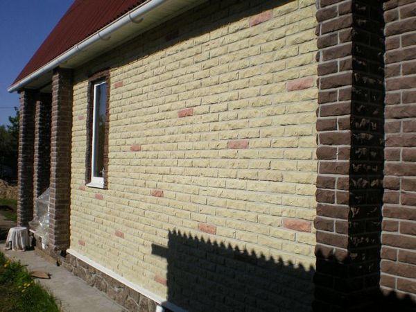 Фасад дома фото частных домов штукатурка короед фото